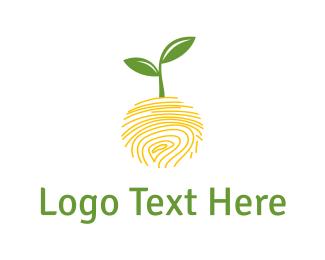 Green - Nature Fingerprint logo design