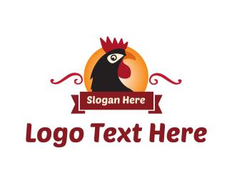 Rooster - Rooster & Sun logo design