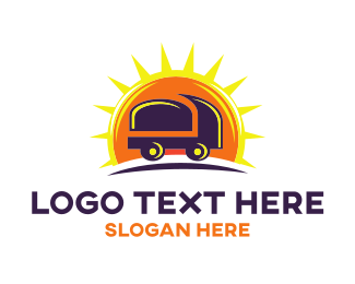 Automotive - Truck Sun logo design