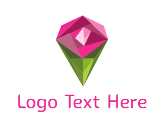 Expensive - Diamond Rose logo design