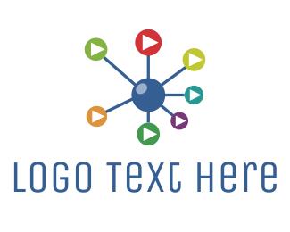 Molecule - Science Media logo design