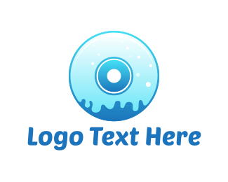 Disc - Liquid Compact Disc logo design