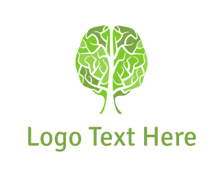 Artificial Intelligence - Brain Tree logo design