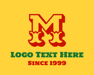 Wild West - Mexican Letter M logo design