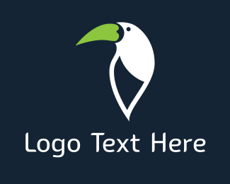 Toucan - Green Beak logo design