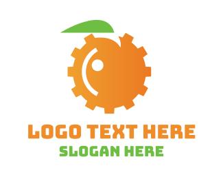 Orange Juice - Orange Engine logo design