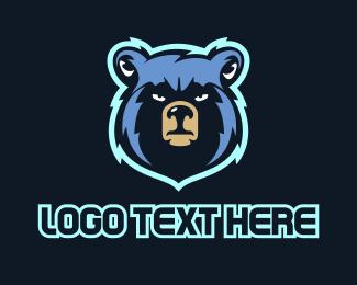 Basketball Team - Blue Bear logo design