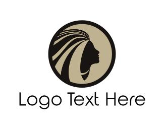 Native - Girl Face logo design