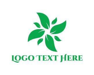 Salad - Green Leaves logo design