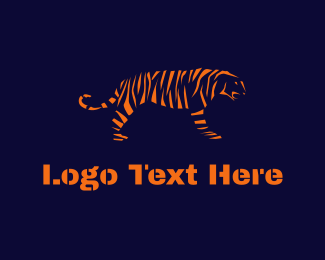 Tiger - Tiger Stripes logo design