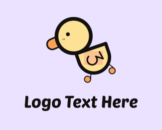 Adorable - Little Duck  logo design