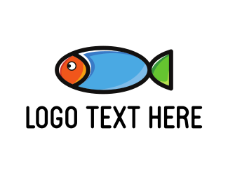 Fish - Colorful Cute Fish logo design