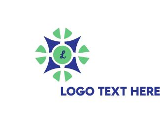 Fantasy - Button Flower logo design
