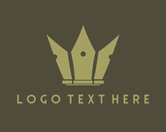 Public Relations - Pen Crown logo design
