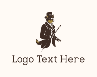 Monocle - Elegant Brown Fox logo design