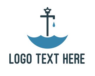 Rain - Faucet Umbrella  logo design