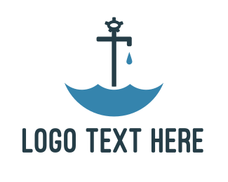 Water - Faucet Umbrella  logo design