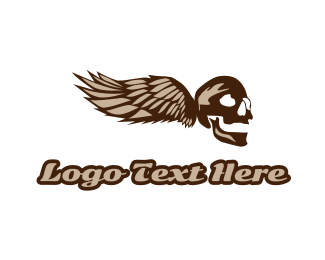 Crypt - Wing Skull Gaming logo design