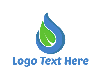 Droplet - Water Leaf logo design