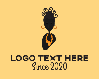 Necklace - Curly Lady logo design