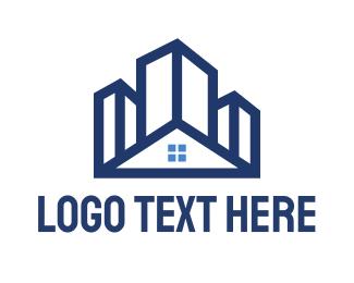 Home - Blue Building House logo design