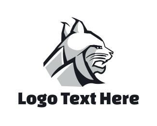 Bobcat - White Lynx logo design