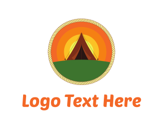 Lodge - Sunrise Camp logo design