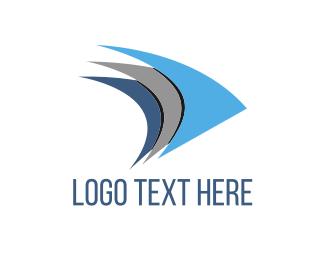 Sailboat - Blue Fins logo design