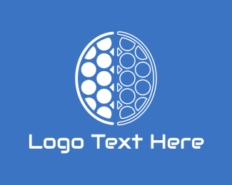 Artificial Intelligence - Brain Circles logo design