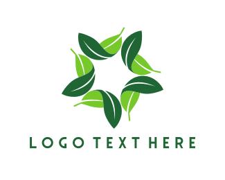 Leafy - Leafy Star logo design
