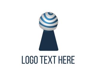 Password - Modern Keyhole logo design