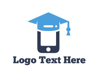 Smartphone - Mobile Graduation logo design