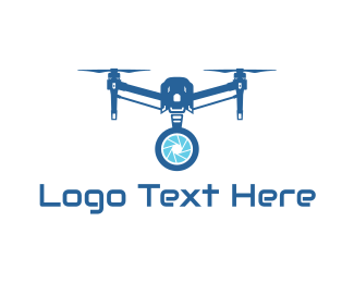 Drone - Blue Security Drone logo design