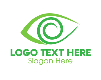 Optical - Green Spiral Eye logo design
