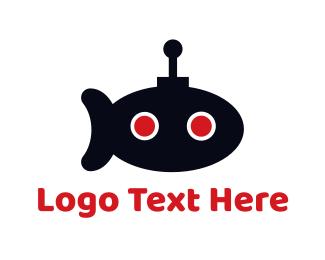 Antenna - Submarine Robot logo design