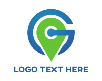 Delivery Service - Green Pin G logo design