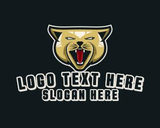 Puma - Angry Cat Gaming logo design