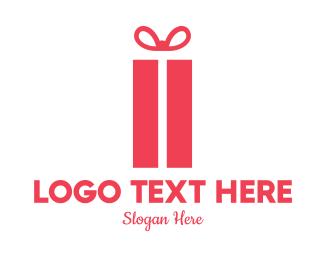 Anniversary - Red Gift Box logo design