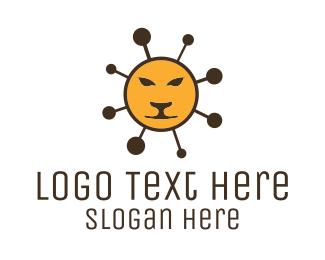 Molecule - Molecular Lion logo design