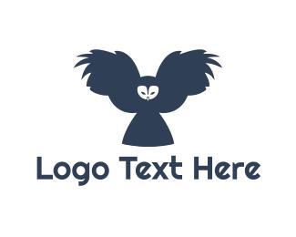 Owl - Flying Blue Owl logo design