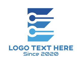 Chip - Blue E Tech logo design