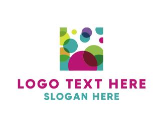 Print - Square & Circles logo design