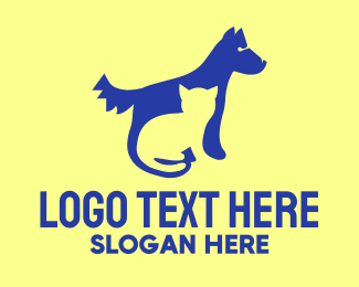Doggie - Cat & Dog logo design
