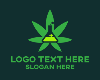 Chemical - Cannabis Experiment logo design