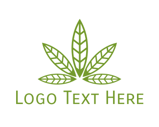 Therapy - Cannabis Leaf Pattern logo design