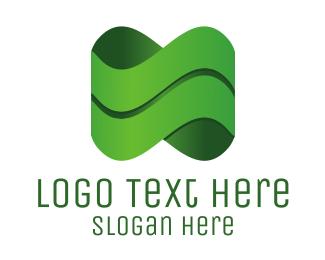 Sound - Green Wave logo design