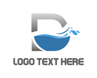 Liquid - D Water logo design