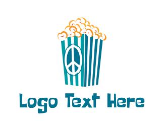 Snack - Groovy Popcorn  logo design