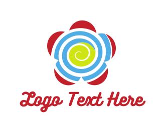 Spa - Spiral Flower logo design