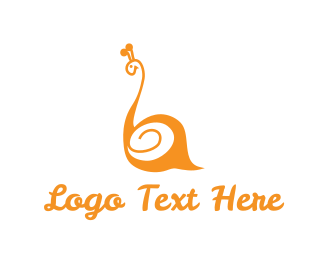 Slow - Orange Snail logo design
